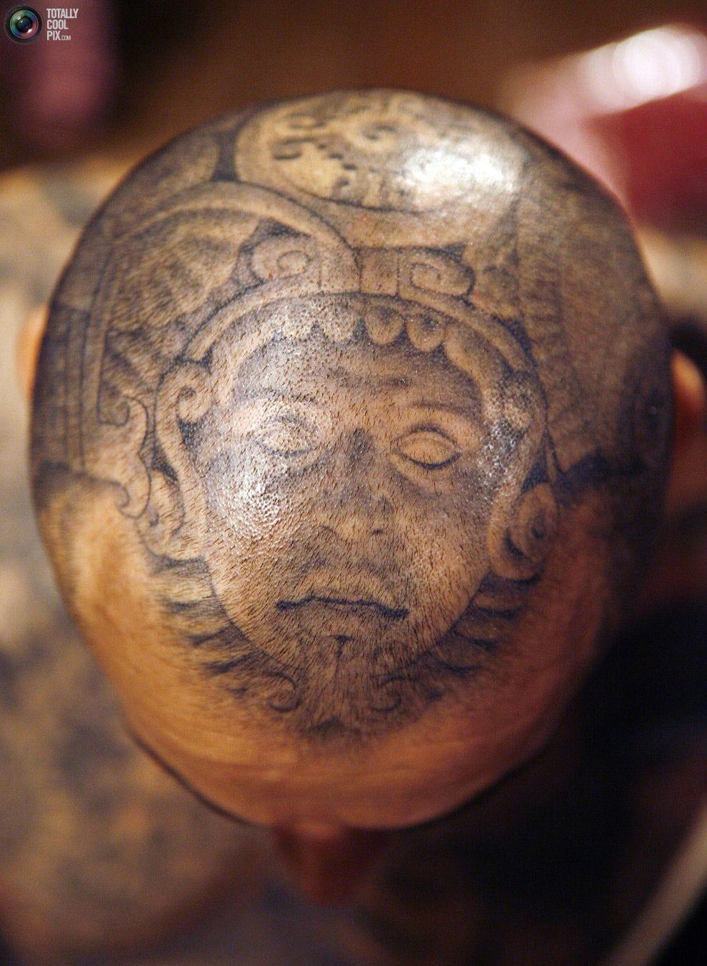 Mayan scalp piece.