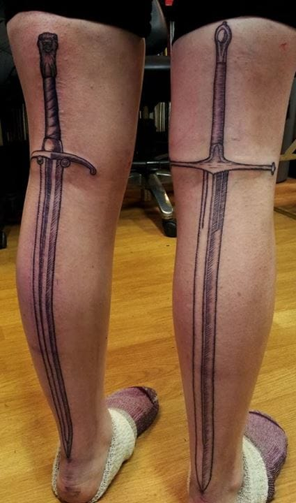 Great Sword Tattoos by Joseph Deegan