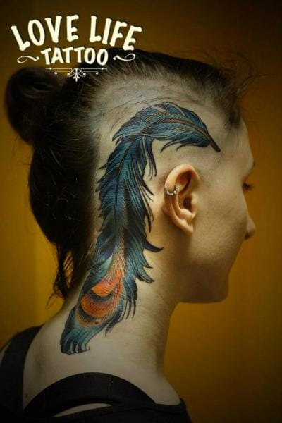 Feather by Love Live Tattoo.