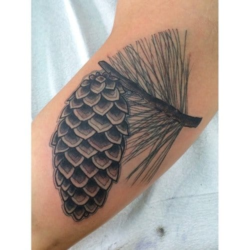 Embrace nature with these pine cone tattoos tattoodo for Little linda tattoo