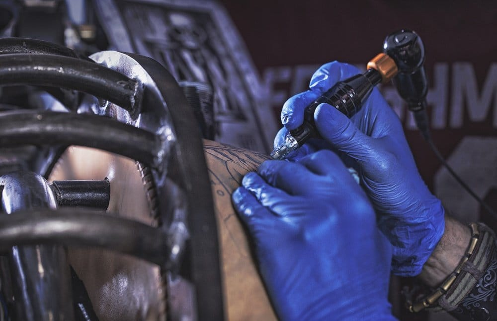 The Recidivist is covered with handmade tattoos on quality leather.