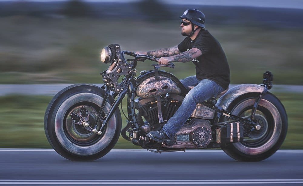 A dream of custom bikes and tattoos collectors...