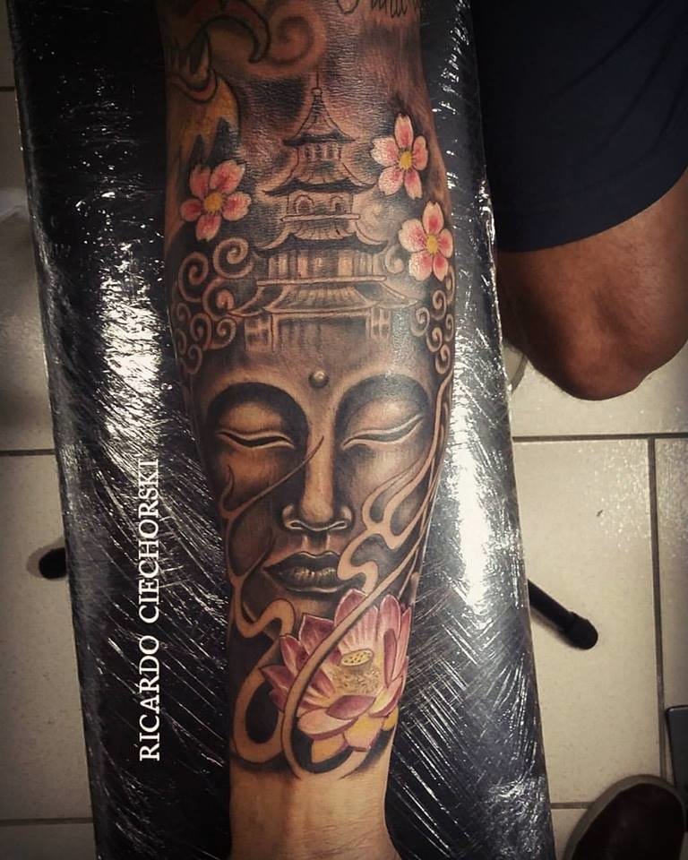 Belíssima tatuagem oriental