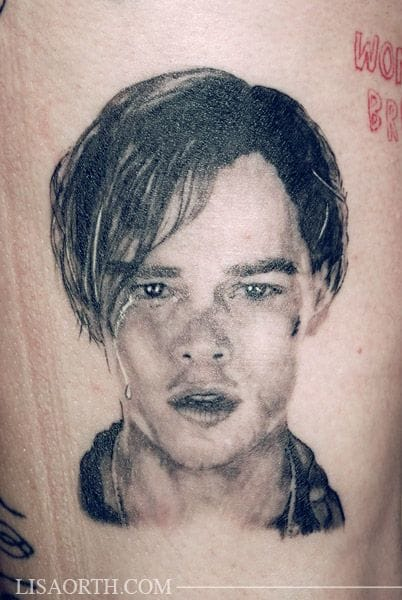 Great Young DiCaprio Tattoo by Lisa Orth