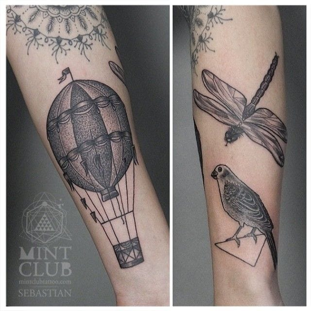 Nice etching style for this tatto by Sebastian.