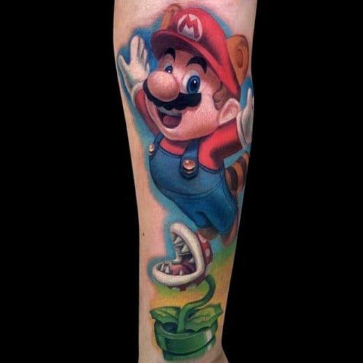 Mario Tattoo by Jamie Lee Parker