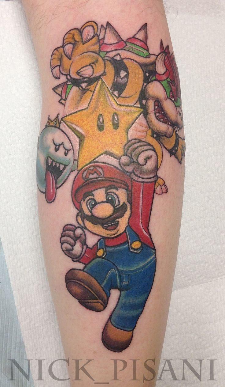 Super Mario Tattoo By Nick Pisani