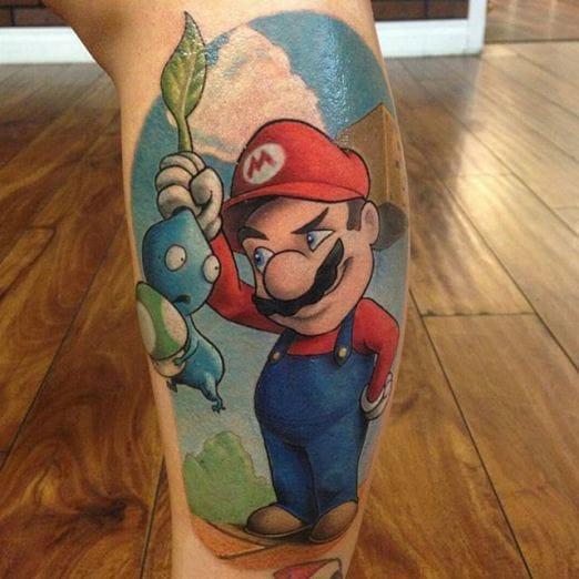 Super Mario Tattoo, artist unknown