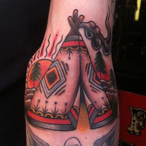 15 Nomadic Tipi Tattoos