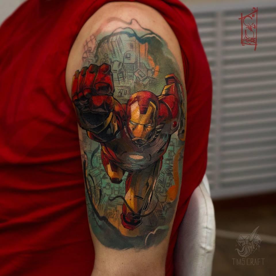 Homem de ferro em estilo comics