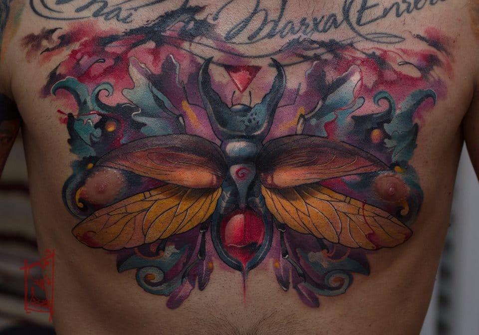 Linda chest piece! Inspiração total!