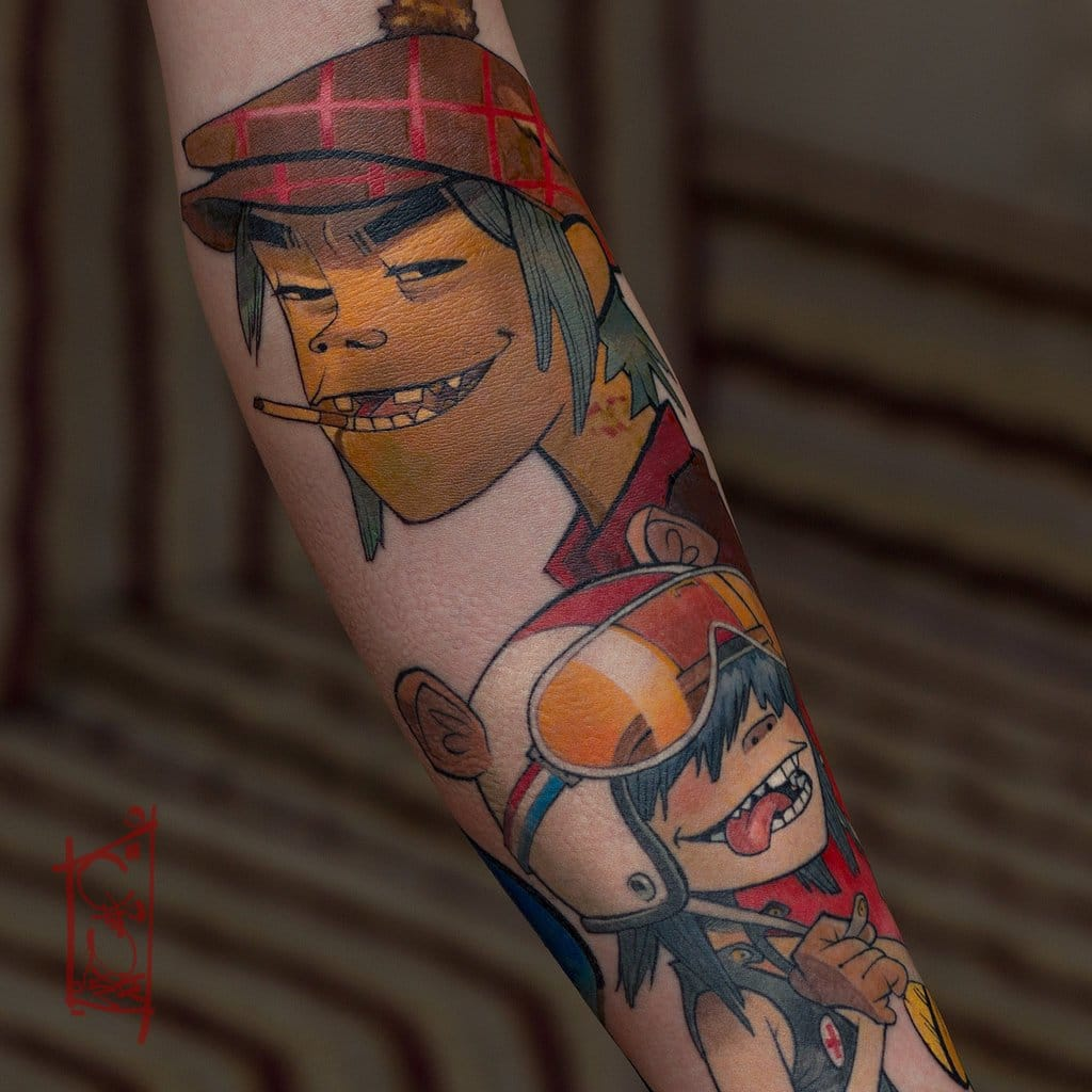 15 Gorillaz Tattoos That Will Give You The Feel Good Inc. Vibes