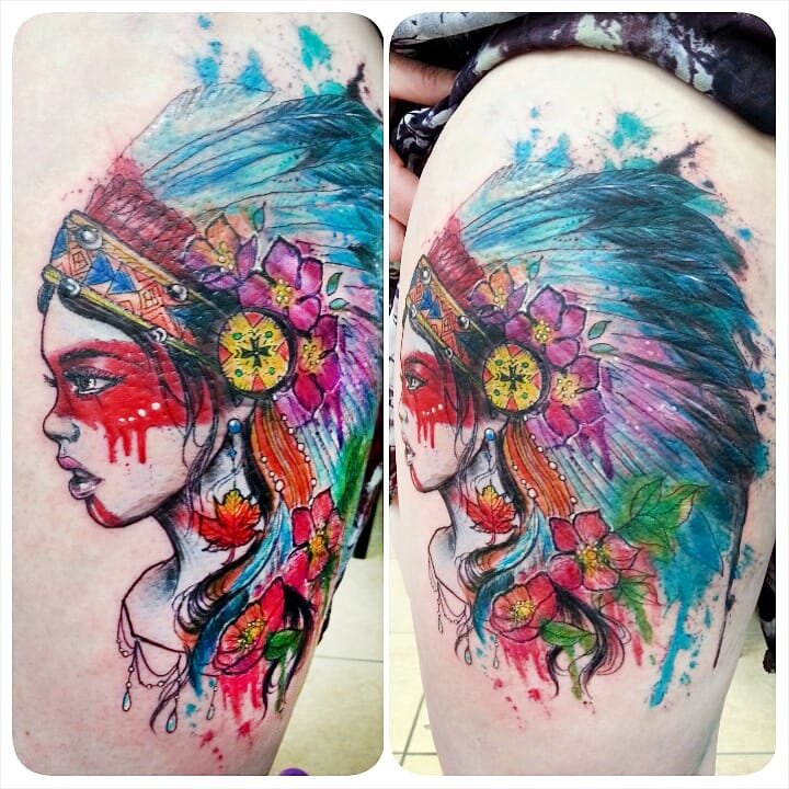Gorgeous tattoo by Joanne Baker.