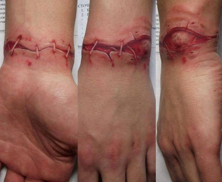 10 Bloody & Gruesome Severed Body Parts Tattoos
