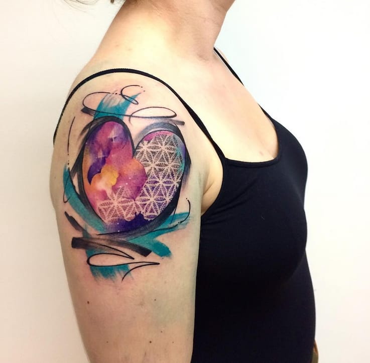 10 Inspiring Heart Tattoos