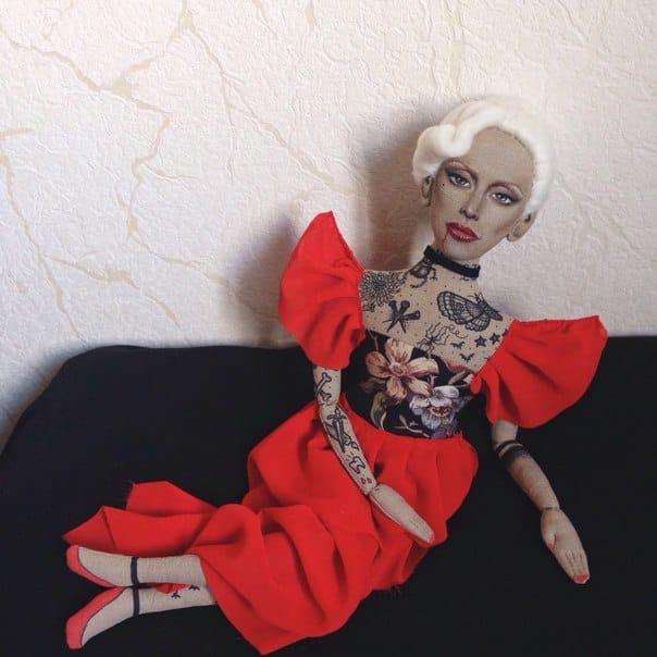 The wonderful Lady Gaga, as a tattooed doll!