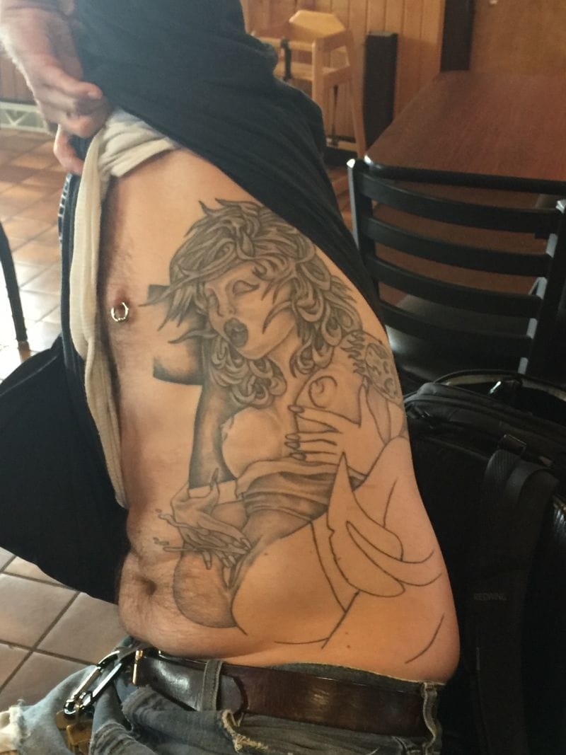 Bad tattoo with a bad background story