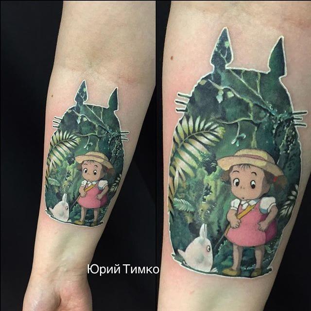Wonderful piece by Yury Timko... totoro tattoos