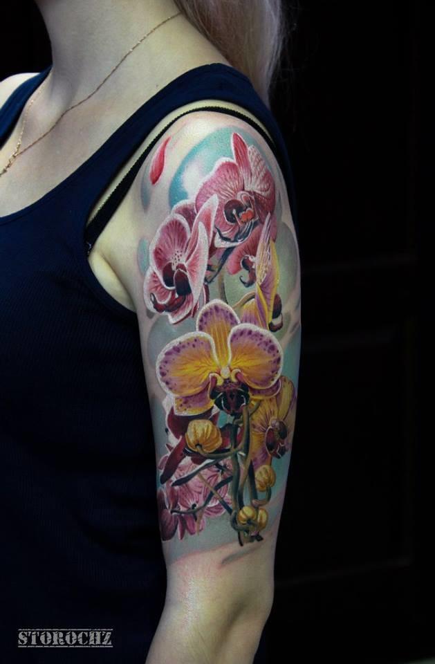 Gorgeous half sleeve by Mihail Storochenko...