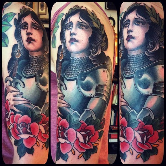 10 Spirited Joan Of Arc Tattoos