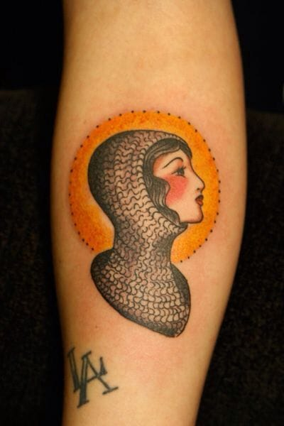 Joan of Arc Tattoo, artist unknown