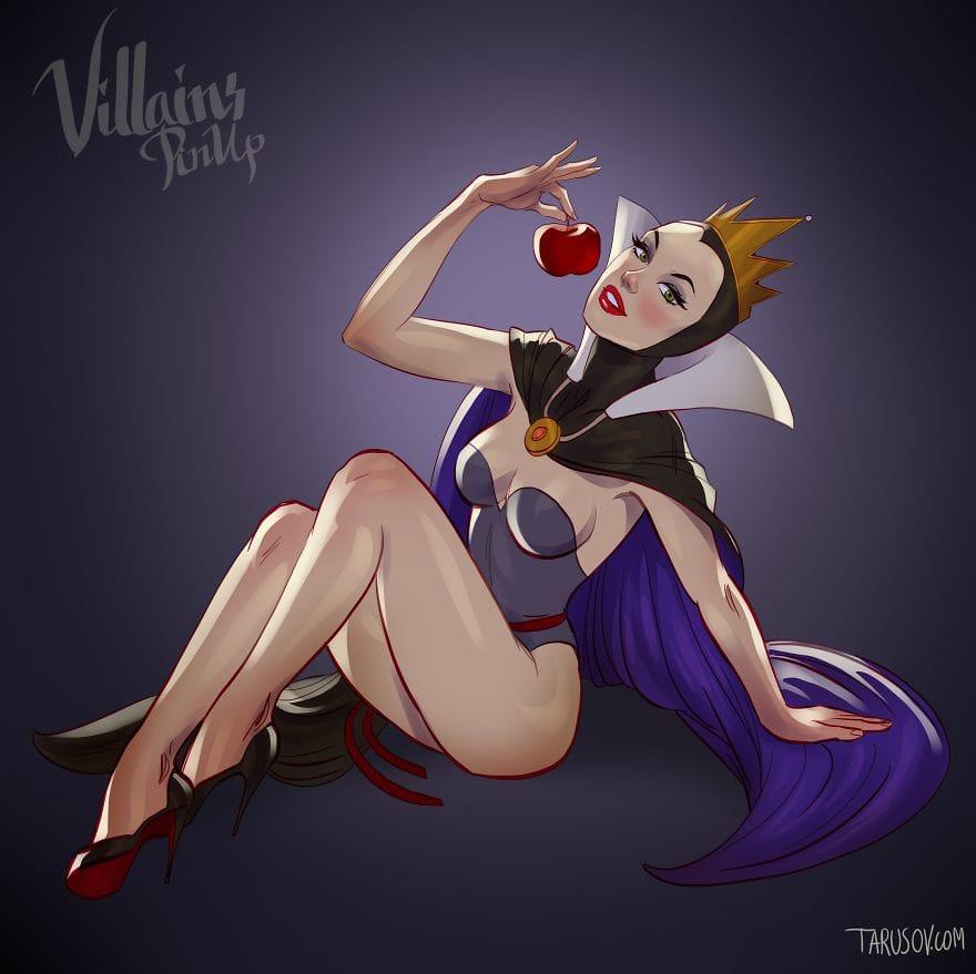 Classic Disney Villains Reimagined As Pin-Up Girls