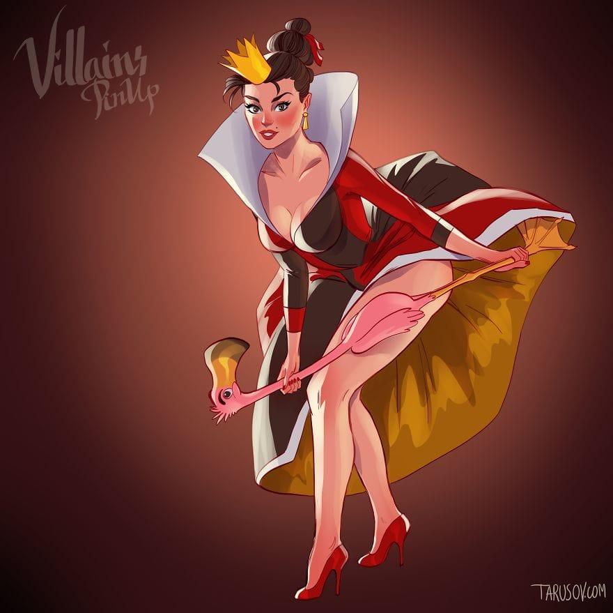 Alice in Wonderland's Queen of Hearts