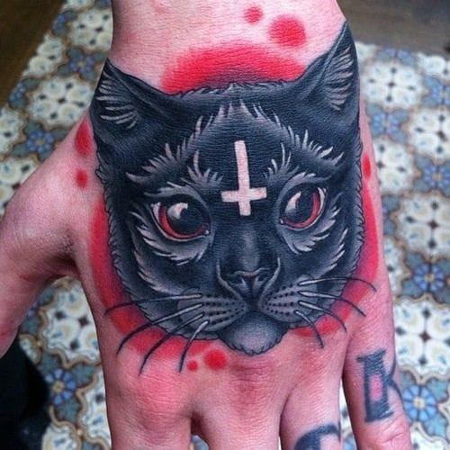 Evil black cat by Megan Massacre.