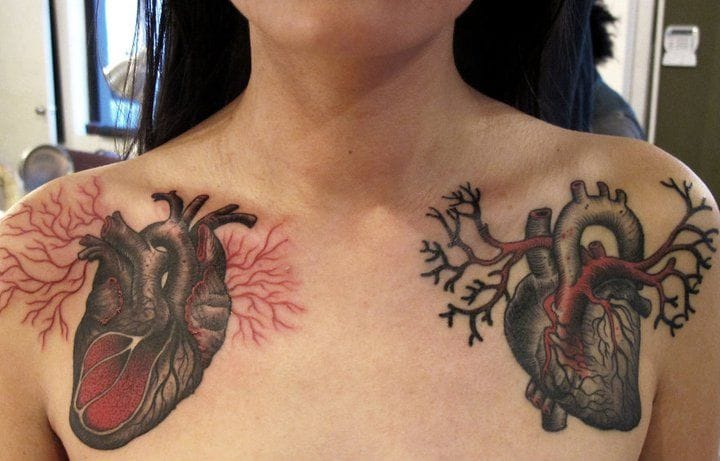 Time Lord Heart Tattoos by Anderson Luna