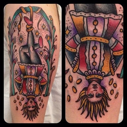 The Hanged man is a Tarot symbol for wealthness and destiny. By Matt Houston.