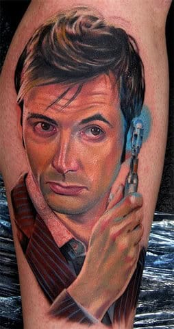 Tenth Doctor Tattoo, artist unknown