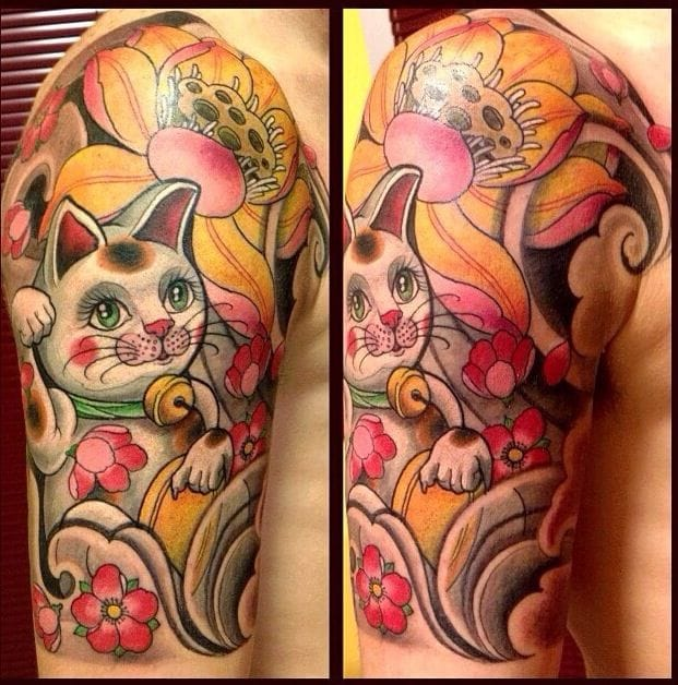 Another Maneki Neko, very colorful and cute.