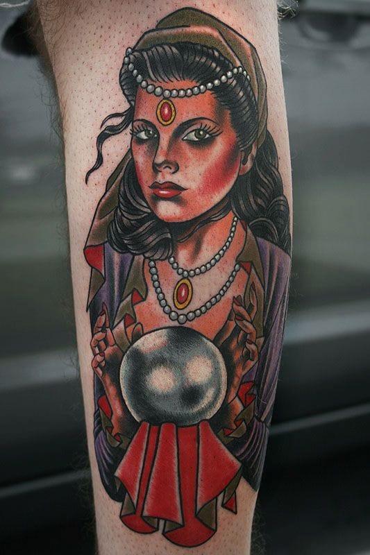 Fortune Teller Tattoo by Stefan Johnsson