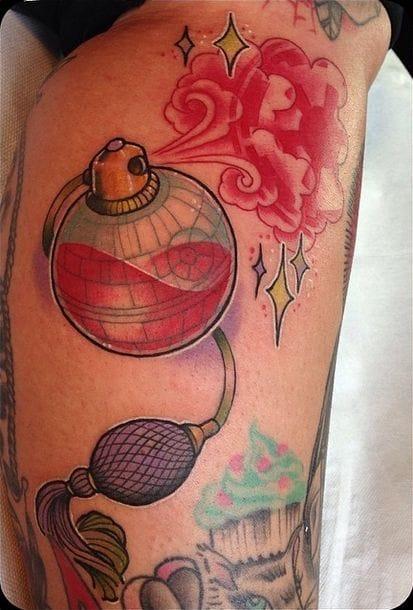 Death Star perfume bottle tattoo?