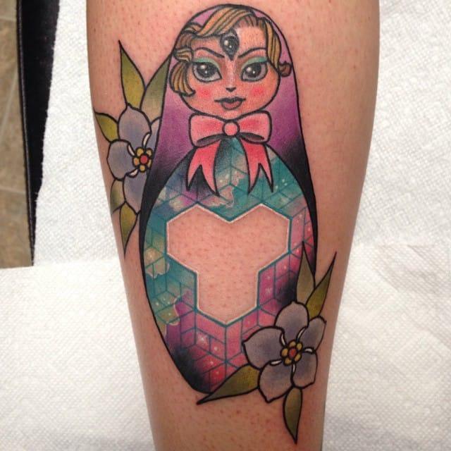 Nerdy Russian doll tattoo