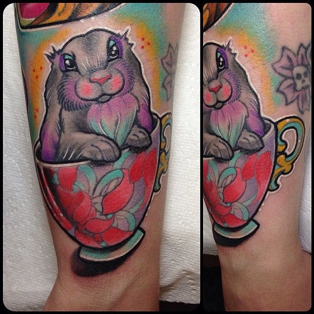 Another lovely animal tattoo by Rizza Boo