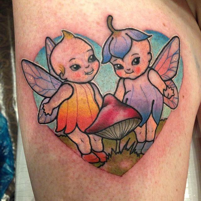 Kewpie dolls as little fairies