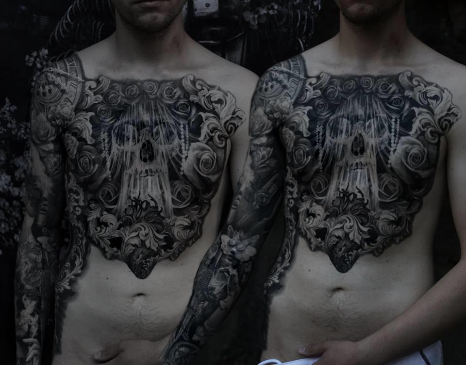 Badass torso tattoo and sleeve by Ellen Westholm