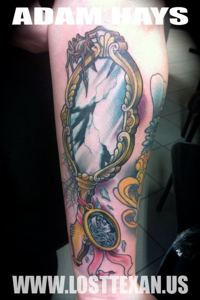 Another broken Mirror by Adam Hays ... Hope it won't happen to you a Friday 13th !
