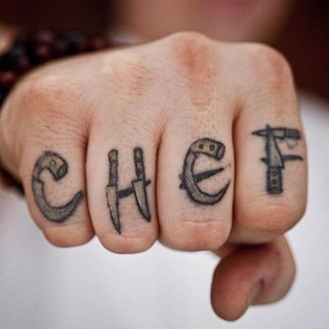 Rad knuckles tattoo