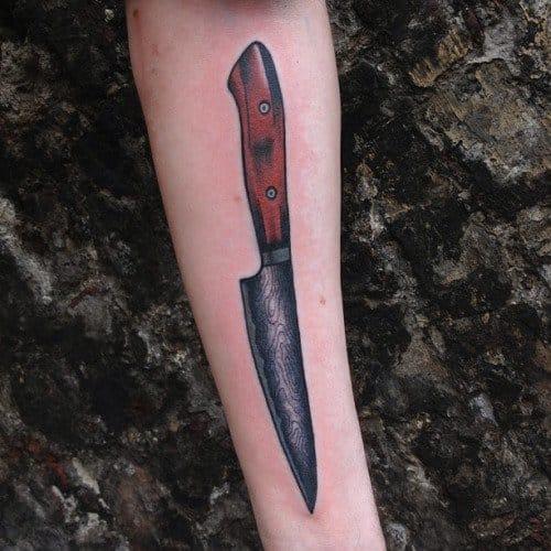 Knife Tattoo by Michele L'Abbate