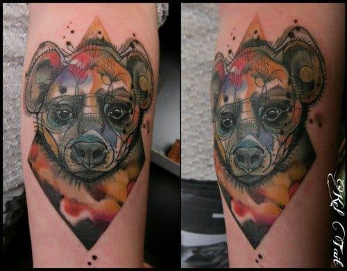 Modern Hyena Tattoo by Kel Tait