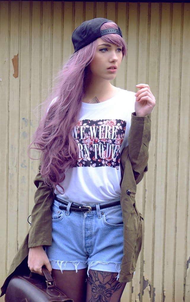 Girls With Light Purple Hair Tumblr Having Fun With...