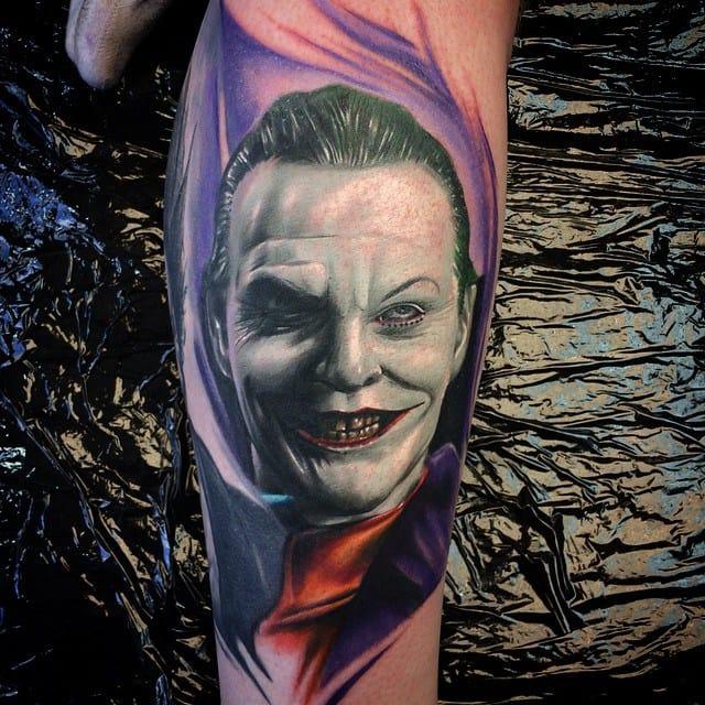 Jack Nicholson Tattoo by Max Pniewski