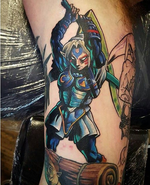 Fierce Deity tattoo by @prhymesuspect