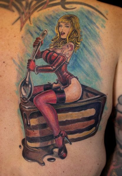 She's the icing on the cake ... By Paris Pieredis.