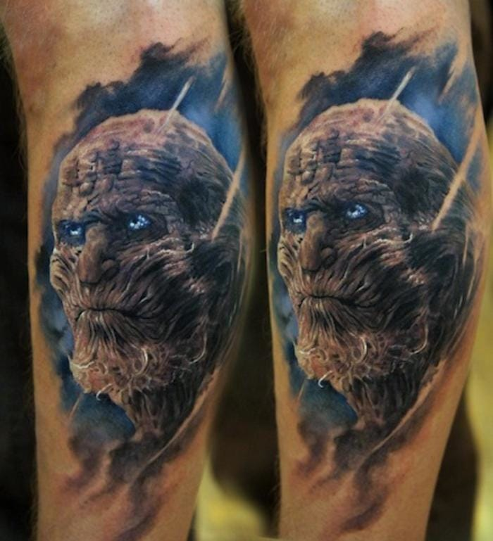 White Walker tattoo by Domantas Parvainis