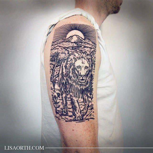 Aslan tattoo by Lisa Orth