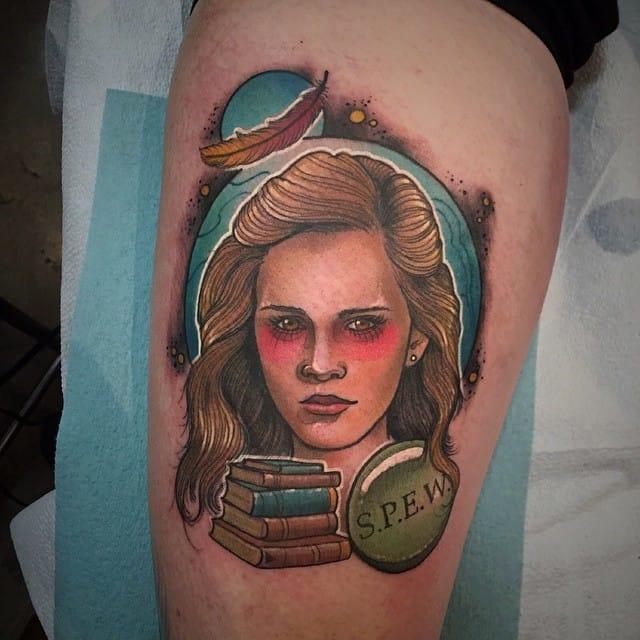 Hermoine tattoo by Earth Grasper