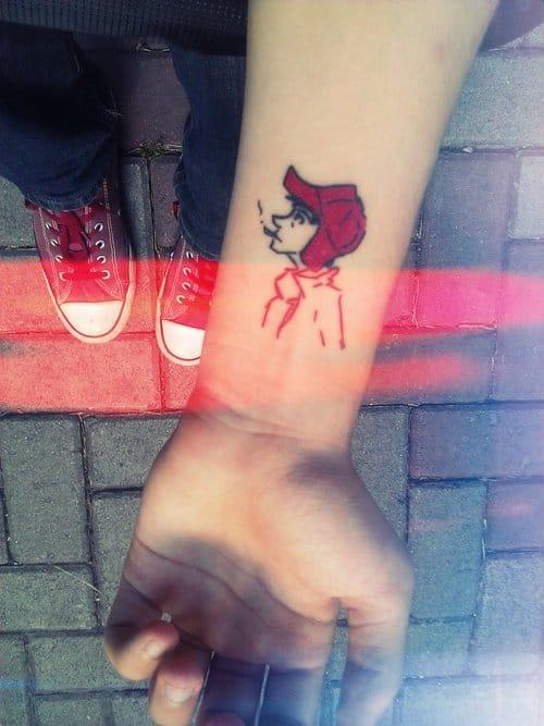 Holden Caufield tattoo via knyttneve Tumblr